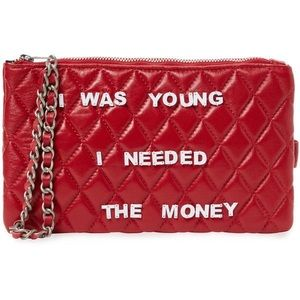 Mua Mua clutch - I Was Young I Needed the Money